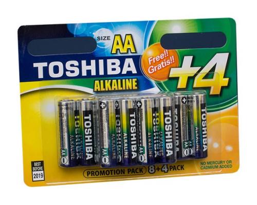 Батарейки Toshiba LR06 AA BL12, 12 шт в блистере