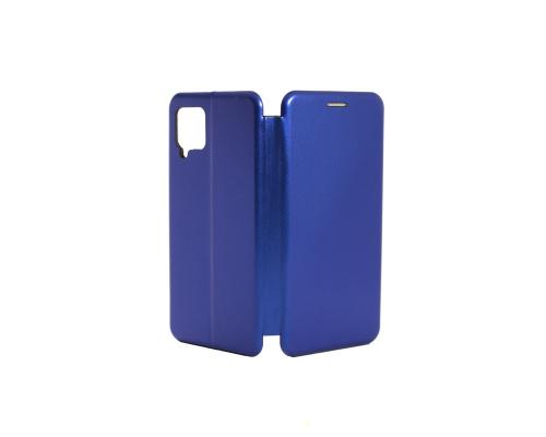 Чехол-книжка Samsung A42, кож-зам, в бок, синий, FASHION CASE