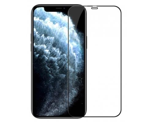 Защитное стекло 3D iPhone 12 Pro Max, чёрное, Borofone, полное покрытие