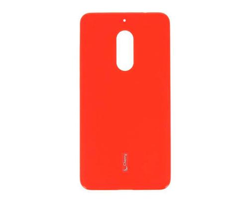 Чехол-накладка Nokia 6, cиликоновый, red, CHERRY CASE