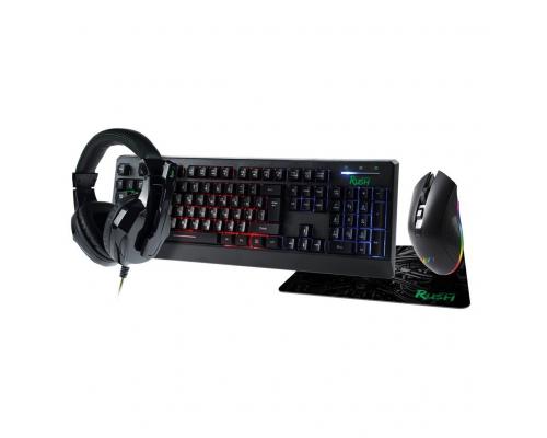 Комплект игровой клавиатура+мышь+гарнитура+коврик Smartbuy RUSH Hypnos черный (SBC-777G-K)