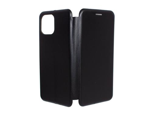 Чехол-книжка Xiaomi Mi 11 Lite, под кожу, в бок, чёрный, FASHION CASE