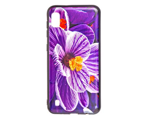 Чехол - накладка для Xiaomi Redmi 7 - пластиковый матовый  - Орхидея (цвет фиолетовый, в пакете)