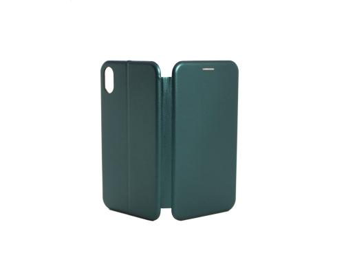 Чехол-книжка iPhone XR, кож-зам, в бок, зелёный, FASHION CASE