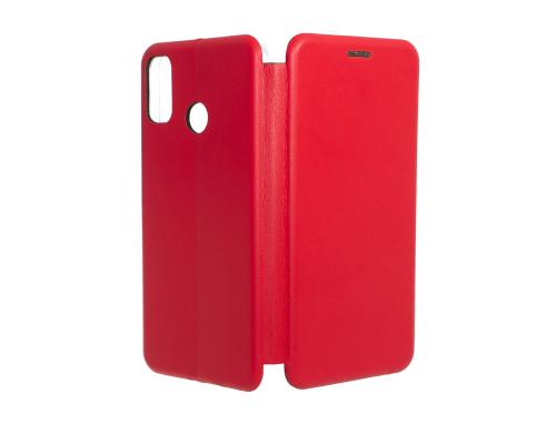 Чехол-книжка Honor 9X Lite, под кожу, в бок, красный, FASHION CASE