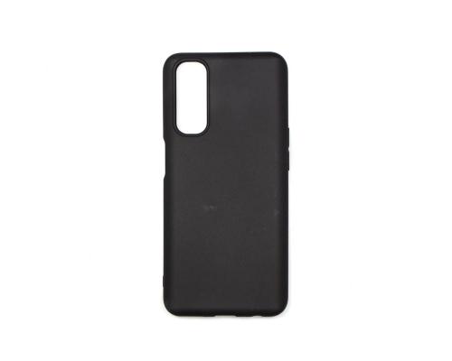 Чехол-накладка Realme 7/Narzo 20 Pro, силиконовый, чёрный, матовый