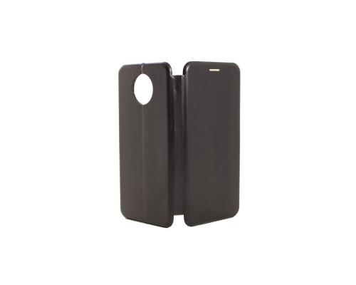 Чехол-книжка Xiaomi Redmi Note 9T, кож-зам, в бок, чёрный, FASHION CASE