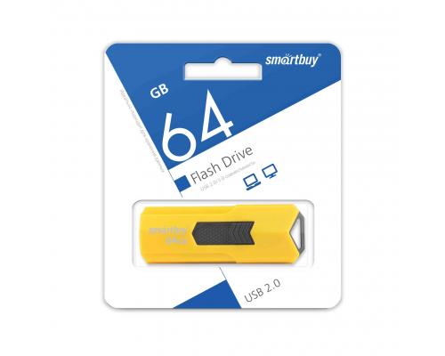 Флэш-карта Smartbuy 64 Gb, Stream, желтая (SB64GBST-Y)