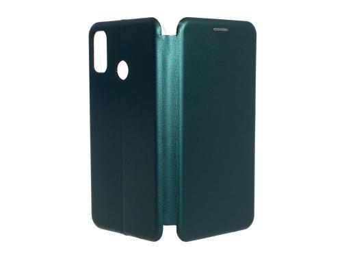 Чехол-книжка Honor 9X Lite, под кожу, в бок, зелёный, FASHION CASE