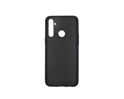 Чехол-накладка Realme 5, силиконовый, чёрный, матовый