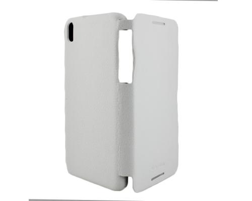 Чехол-книжка вниз HTC Desire 816, кожаный, white, ARMOR
