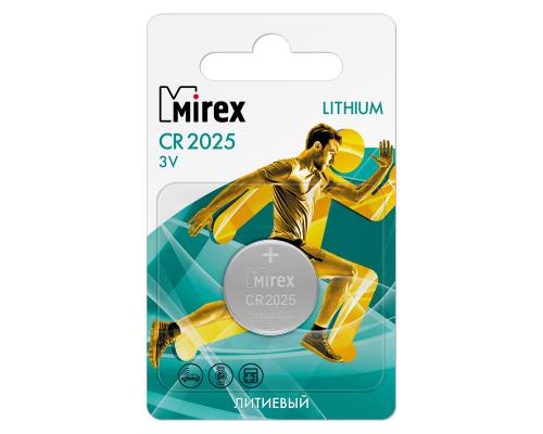 Батарейки Mirex CR2025, BL2, 2 шт в блистере