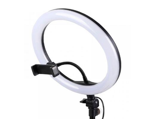 Селфи лампа кольцо, без штатива, 26см, usb, black