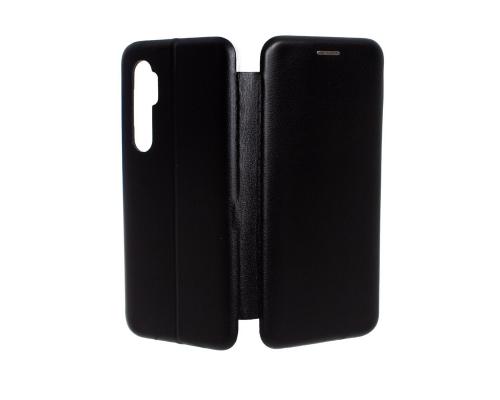 Чехол-книжка Xiaomi Mi Note 10 Lite, под кожу, в бок, чёрный, FASHION CASE
