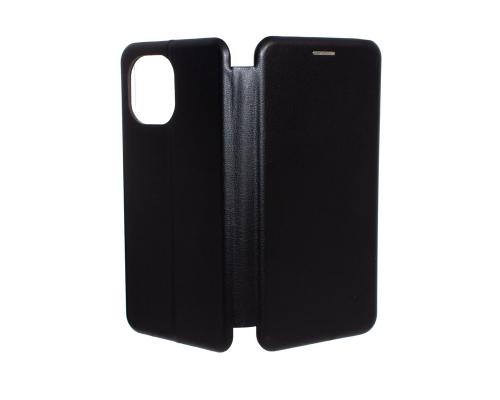 Чехол-книжка Xiaomi Mi 11, под кожу, в бок, чёрный, FASHION CASE