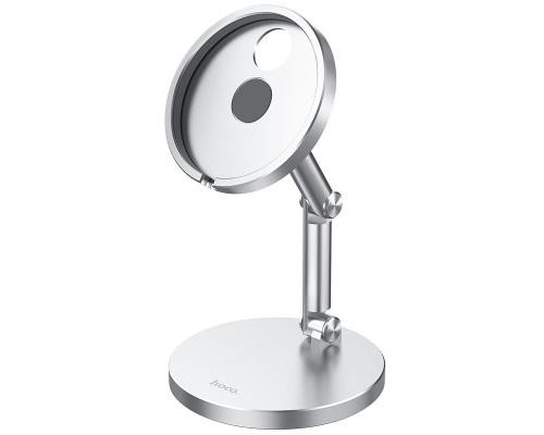 Держатель для Magsafe Iphone12 Hoco PH39, настольный, серебро