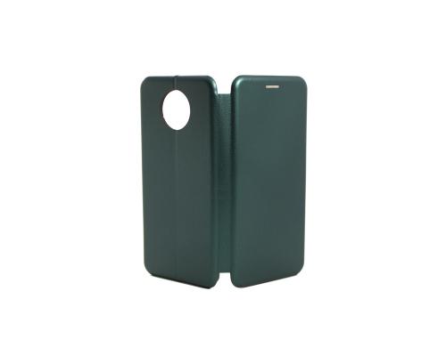 Чехол-книжка Xiaomi Redmi Note 9T, кож-зам, в бок, зелёный, FASHION CASE