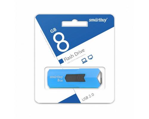 Флэш-карта Smartbuy 8 Gb, Stream, синяя (SB8GBST-B)