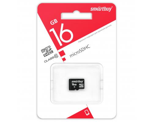 Карта памяти Smartbuy microSDHC 16 Gb class 10